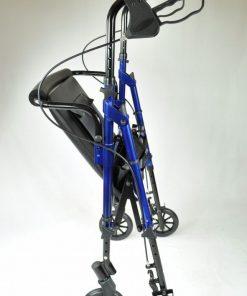 Compact Aluminium Rollator - Blue