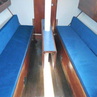 Nicholson 26 boat reupholstery Devon Disability (6)