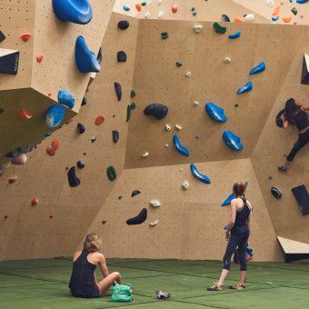 Yonder Climbing centre london crash matting bouldering